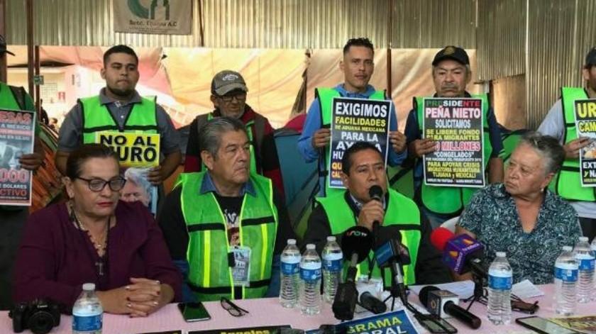 Advierten sobre instalación de campamento migrante afuera del PRI en Tijuana