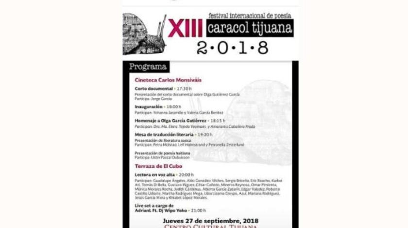 Iniciará actividades el XIII Festival Internacional Poesía Caracol en el Cecut