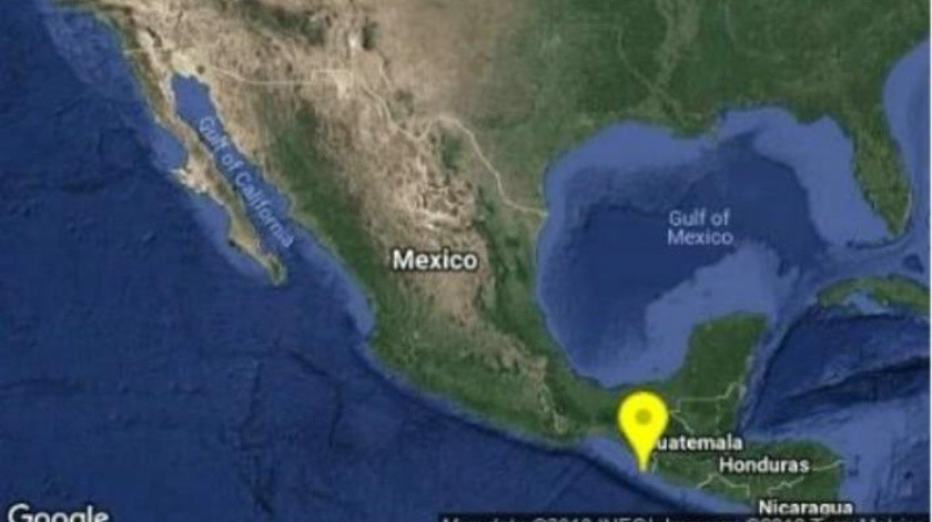 Sismo de 5 grados se registra en Ciudad Hidalgo, Chiapas