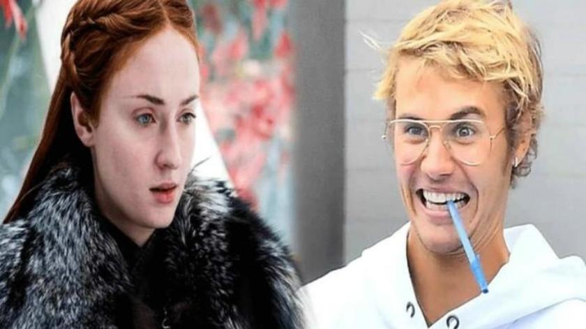 Incómodo momento que pasó Sophie Turner al conocer a Justin Bieber