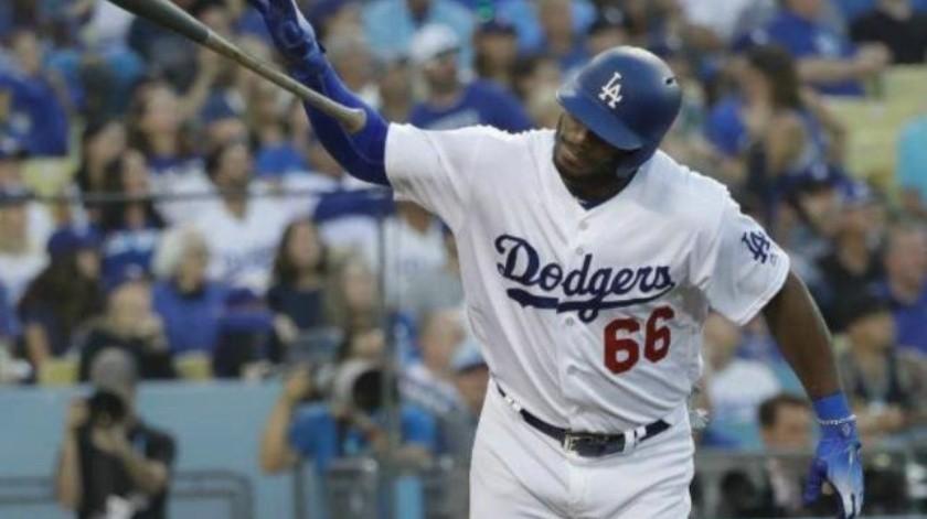 VIDEO: ''Sin perrear'' como Machado, el batazo de Puig que amplió la ventaja de Dodgers