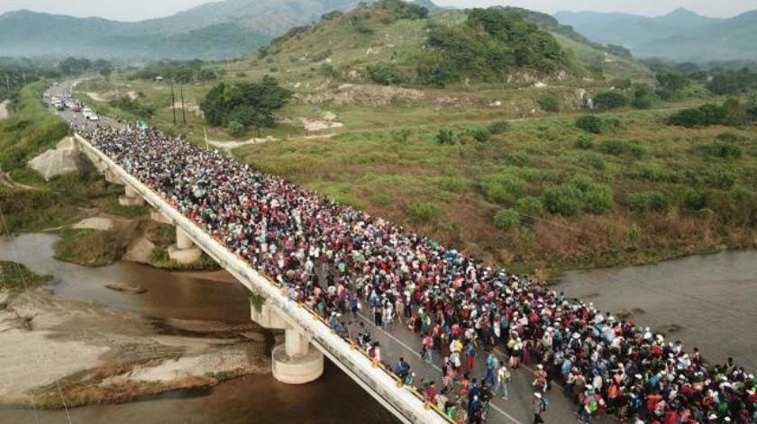 PF intenta frenar marcha migrante