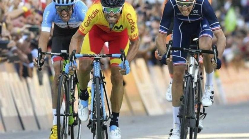 Alejandro Valverde consigue por primera vez medalla de oro en Mundial de Ruta