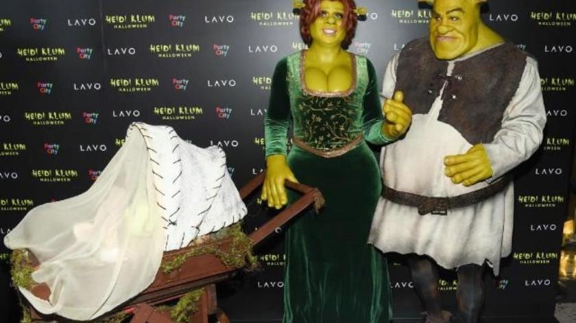 Video: Heidi Klum se disfraza de Fiona para Halloween