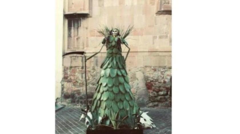 FOTO: ¡La catrina con más vida!, hecha de nopal y maguey en Zacatecas