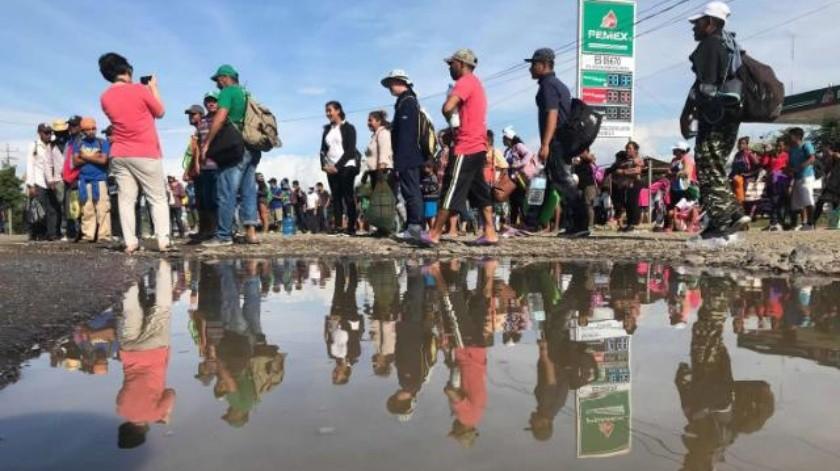 Han reaccionado lento autoridades estatales por caravana migrante