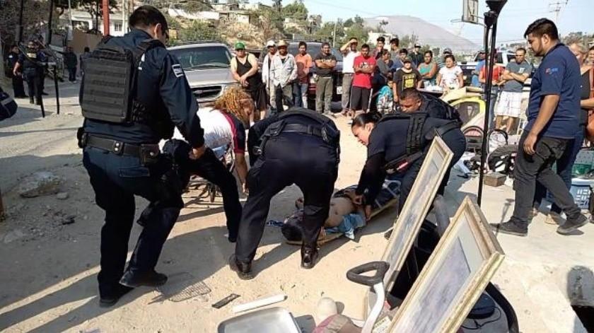 Hombre resulta lesionado por arma de fuego en la México Lindo