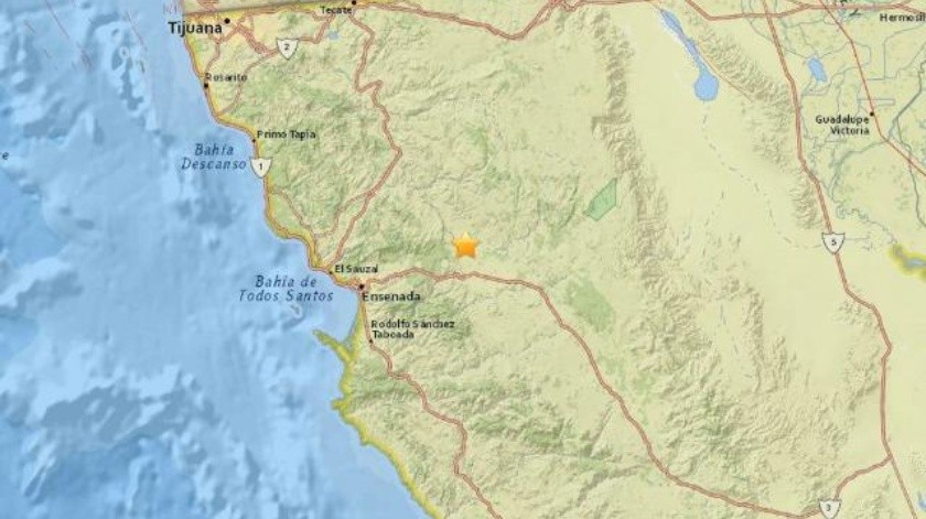 Se registra sismo de 4.4 grados al Noreste de Ensenada