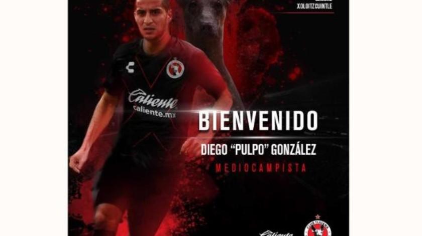 Diego 'El pulpo' González llega a la frontera