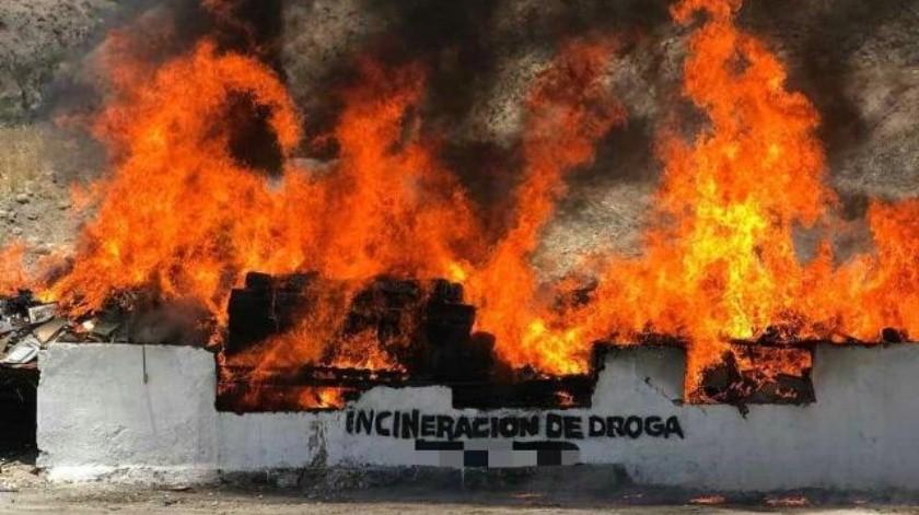 Incinera PGR 4 toneladas de droga y destruye 86 máquinas tragamonedas