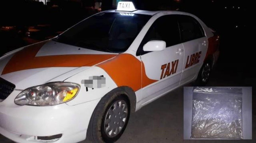 Taxista libre trasladaba droga