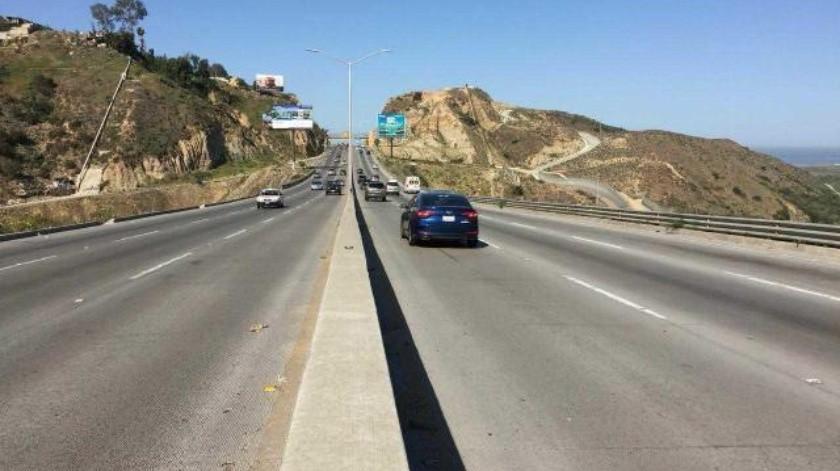 Se cerrarán carriles de la carretera a Playas de Tijuana por obras
