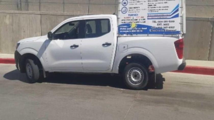 Aseguran a conductor de vehículo robado