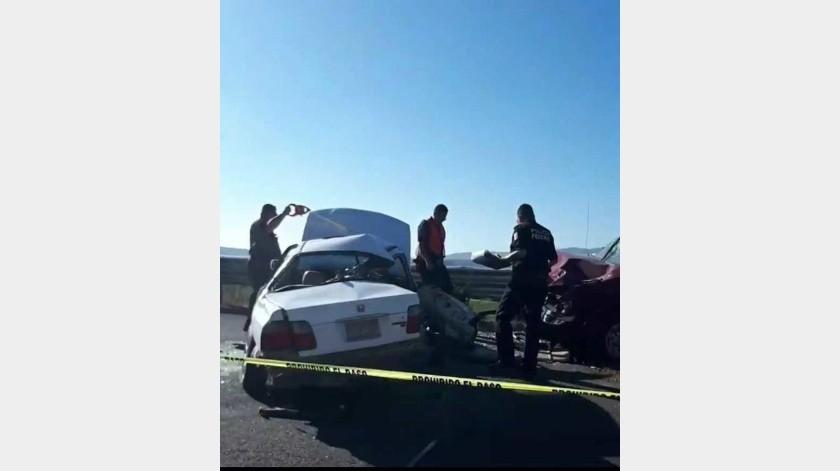 Fallecen dos personas en accidente en San Antonio de las Minas
