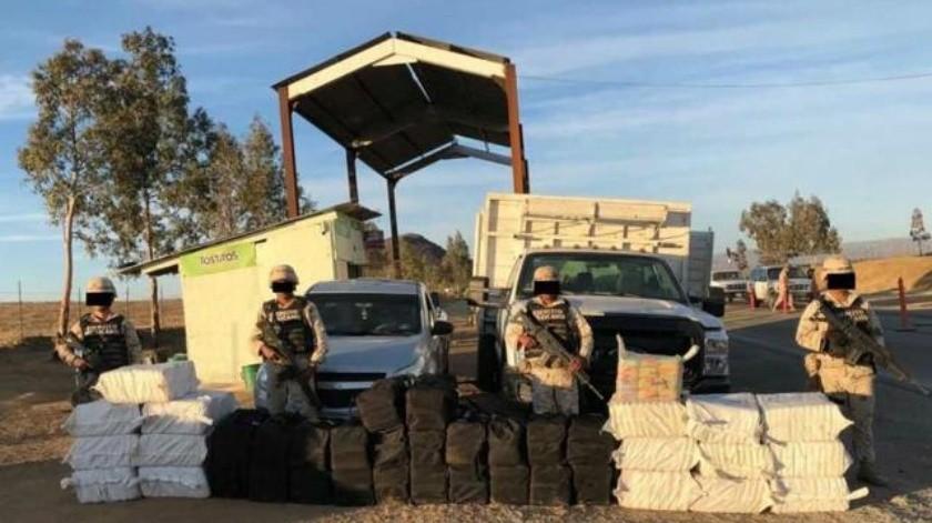 Decomisa Ejército millones de pesos en drogas en Ojos Negros