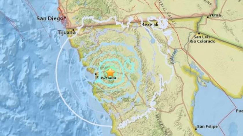 Registra Ensenada sismo de 4 grados esta madrugada