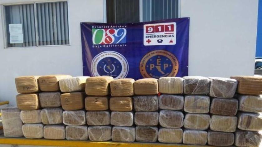 Incauta PEP en Ensenada más de 400 kilos de drogas en 36 días