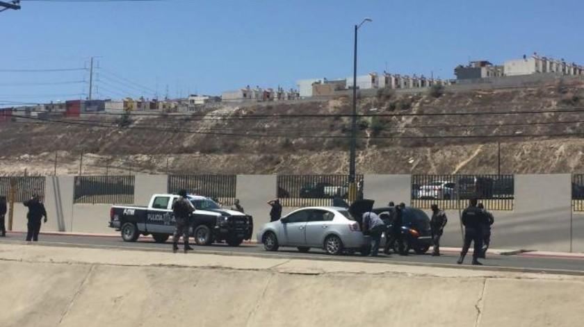 Aseguran a 3 sujetos en una persecución en el bulevar Industrial Florido