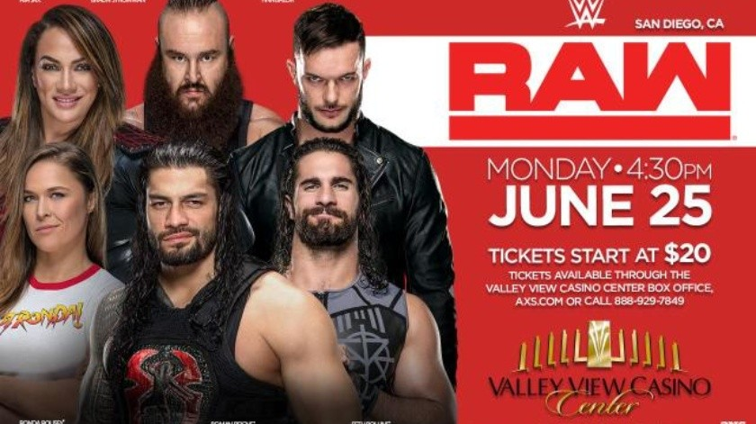 Llega a San Diego Monday Night Raw