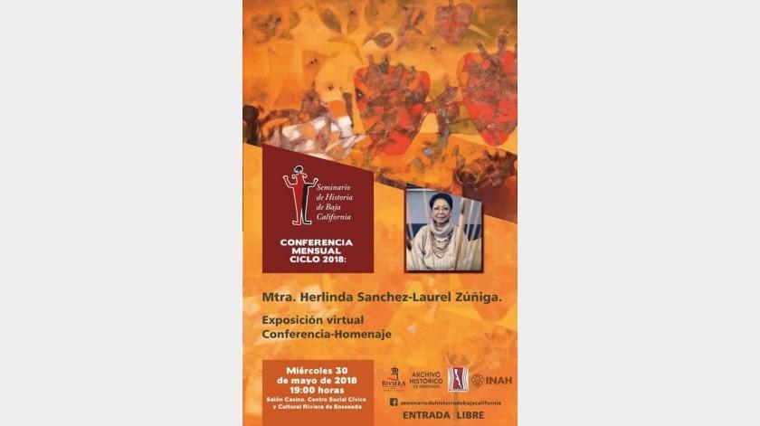 Promueve Riviera de Ensenada conferencia-homenaje a Herlinda Sánchez
