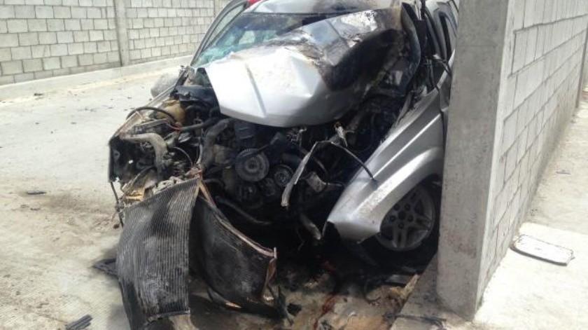 Mujer se accidenta en un estacionamiento del SITT en Los Venados