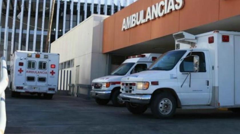 Un herido en volcadura de camión en La Rumorosa