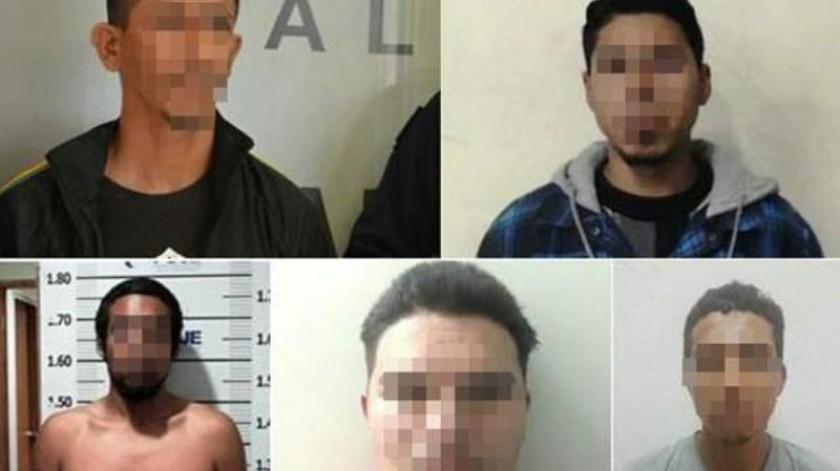 Caen cinco individuos que tenían órdenes de captura por crímenes