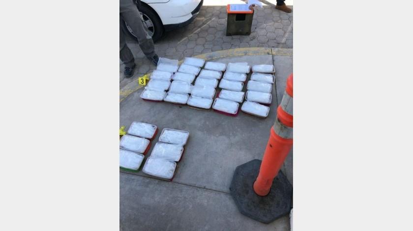Policía Federal intercepta droga en carretera Mexicali-Tijuana