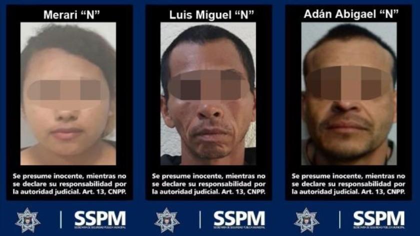 Detienen a 3 personas por posesión de droga sintética