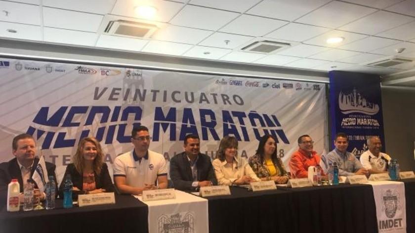 Presentan edición 24 del Medio Maratón de Tijuana