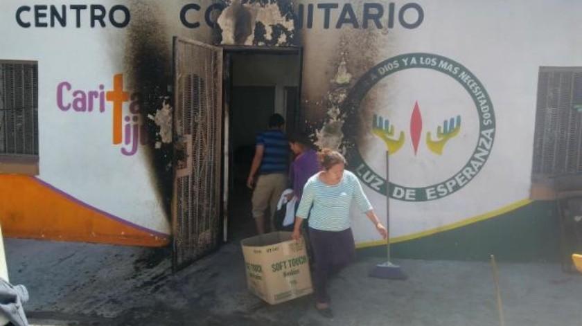 Roban y queman un albergue  para migrantes