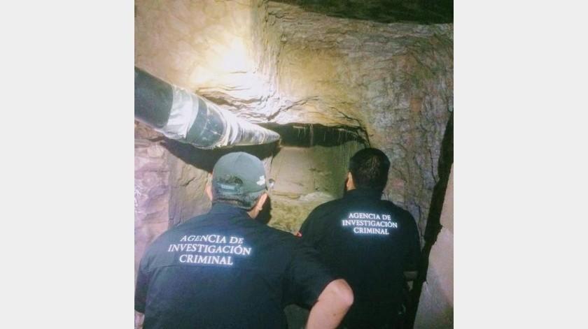 Tenía luz  y ventilación túnel entre Mexicali y Calexico