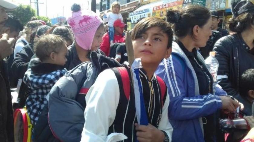 Sale caravana migrante al Chaparral para pedir asilo en EU