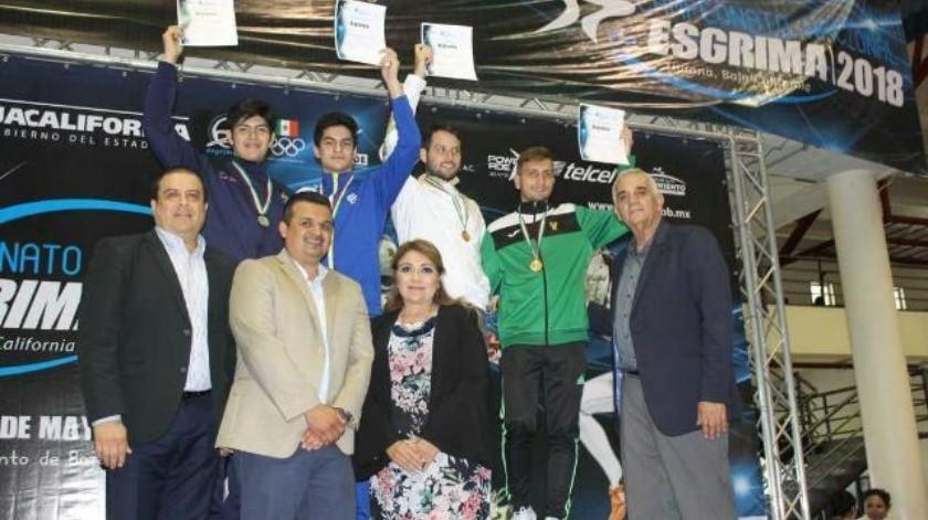 Obtiene BC primero podios de nacional de Esgrima