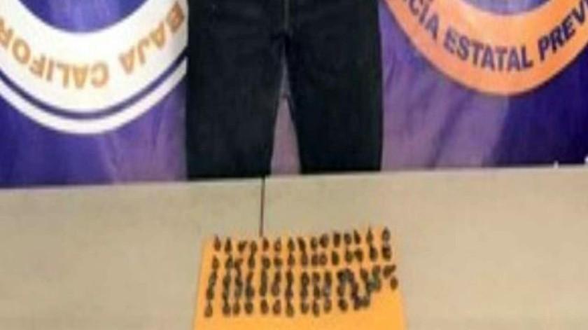 Decomisa PEP más de 200 dosis de 'ice'; un detenido