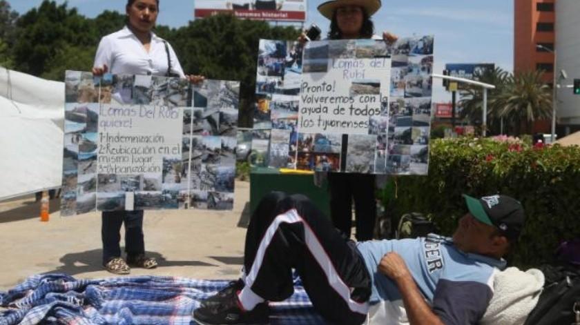 A sus 68 años recurre a la huelga de hambre afectado por derrumbe
