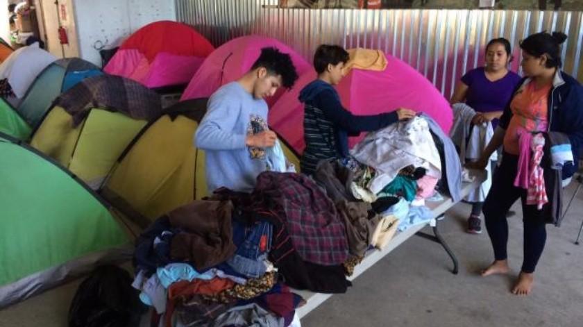 Continúa llegando caravana de migrantes a Tijuana