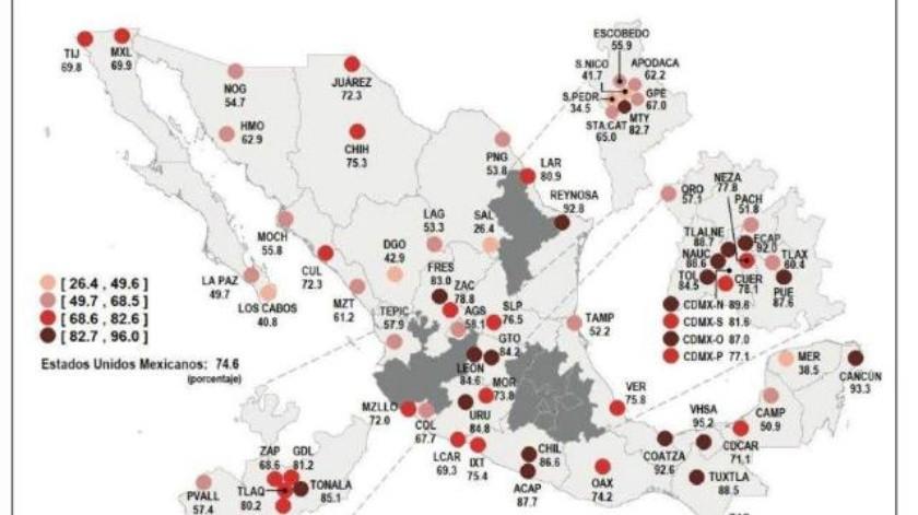 El 74.6% de la población se siente inseguro en su ciudad: Inegi