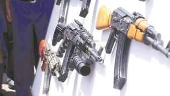 Aseguran en aduanas del País mil 700 armas