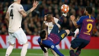 Con doblete de Messi, Barcelona elimina al Manchester de la Champions League