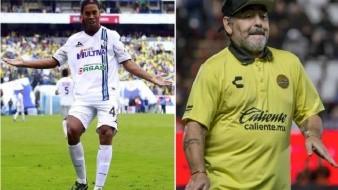 ¿Ronaldinho verá a Cimarrones? Pone todo para el beerpong en Dorados y Maradona lo invita a Sinaloa