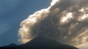 Registran emisión de ceniza del Popocatépetl; mantienen alerta en Amarillo fase 3