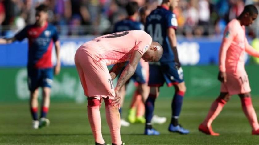 Sin Lionel Messi, Barcelona empata con Huesca en la Liga de España
