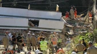 Mueren tres personas en Río de Janeiro tras derrumbe de dos edificios