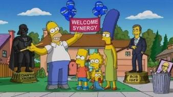 Los Simpson celebran su llegada a Disney
