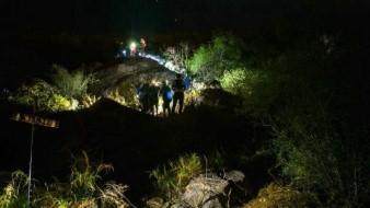 Dos adultos y cuatro menores fueron rescatados desde lo alto del Cerro El Bachoco