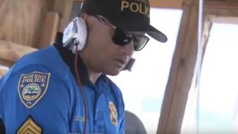 En las playas de Miami Beach ¡hasta el policía es DJ!