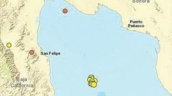 Reportan actividad sísmica al Sureste de San Felipe
