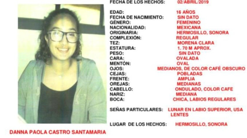 Jovencita desaparece al salir de la escuela en Hermosillo; la buscan