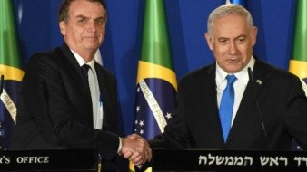 Benjamin Netanyahu recibe a Jair Bolsonaro con alfombra roja